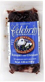 cheese goat's milk, blueberry with cinnamon Celebrity International Nutrition info