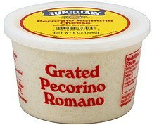 cheese grated pecorino romano Sun of Italy Nutrition info