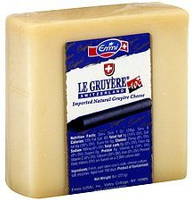 cheese gruyere natural Emmi Nutrition info