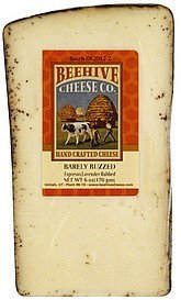 cheese hand crafted, espresso/lavender rubbed Beehive Cheese Nutrition info