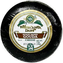 cheese hickory smoked gouda White Clover Dairy Nutrition info