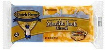 cheese marble jack DUTCH FARMS Nutrition info