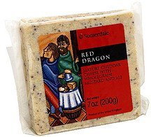 cheese mature cheddar with wholegrain mustard and ale Red Dragon Nutrition info
