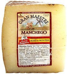 cheese matured soft, manchego Gran Maestre Nutrition info