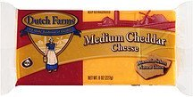 cheese medium cheddar DUTCH FARMS Nutrition info
