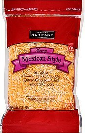 cheese mexican style fancy shredded American Heritage Nutrition info