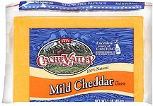 cheese mild cheddar Cache Valley Nutrition info