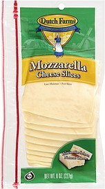 cheese mozzarella DUTCH FARMS Nutrition info