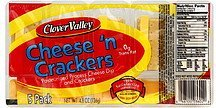 cheese 'n crackers Clover Valley Nutrition info
