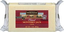cheese natural monterey jack American Heritage Nutrition info