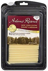 cheese new york extra sharp cheddar Adams Reserve Nutrition info