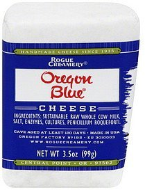 cheese oregon blue Rogue Creamery Nutrition info