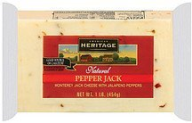 cheese pepper jack American Heritage Nutrition info