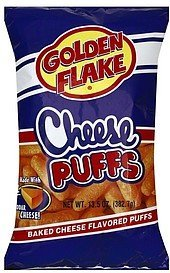 cheese puffs Golden Flake Nutrition info