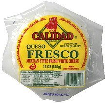 cheese queso fresco Calidad Nutrition info