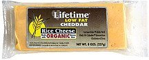 cheese rice, low fat, cheddar Lifetime Nutrition info
