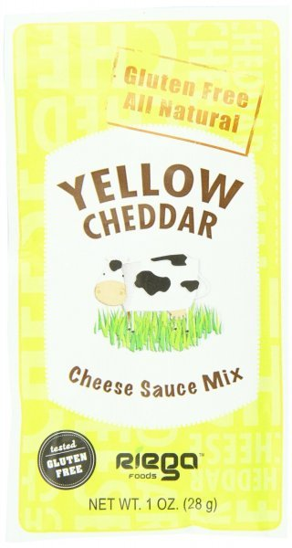 cheese sauce mix yellow cheddar Riega Nutrition info
