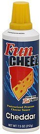 cheese sauce pasteurized process, cheddar Fun Cheez Nutrition info