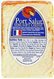 cheese semi-soft Port Salut Nutrition info