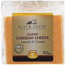 cheese sharp cheddar Black Creek Nutrition info