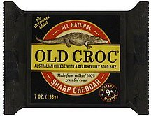 cheese sharp cheddar Old Croc Nutrition info