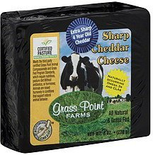 cheese sharp cheddar Grass Point Farms Nutrition info