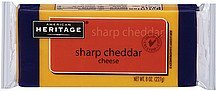 cheese sharp cheddar American Heritage Nutrition info