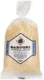 cheese shredded, parmesan Sartori Nutrition info