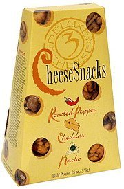 cheese snacks roasted pepper, cheddar, nacho Sunflower Food & Spice Company Nutrition info
