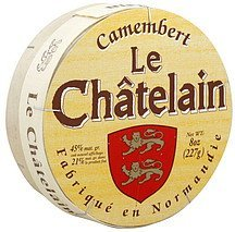 cheese soft ripened, camembert Le Chatelain Nutrition info