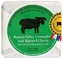 cheese soft, ripened, hudson valley camembert Old Chatham Sheepherding Company Nutrition info
