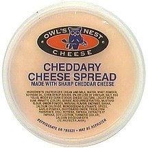 cheese spread cheddary Owls Nest Nutrition info