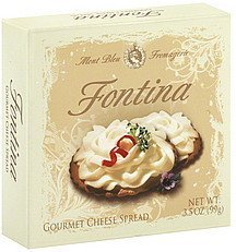cheese spread gourmet, fontina Mont Bleu Fromagerie Nutrition info