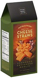 cheese straws petite, aged sharp cheddar, parmesan artichoke garlic Salem Baking Co. Nutrition info