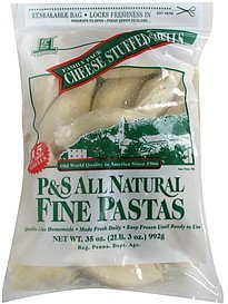 cheese stuffed shells family pack P&S Ravioli Co. Nutrition info