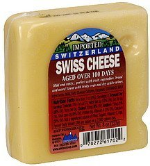 cheese swiss Swissrose Nutrition info