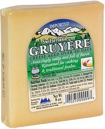 cheese switzerland gruyere Swissrose Nutrition info