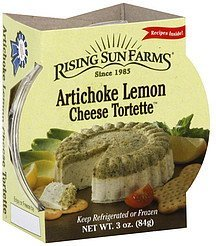 cheese tortette artichoke lemon Rising Sun Farm Nutrition info