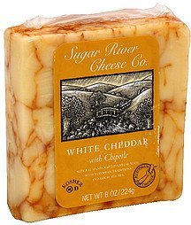 cheese white cheddar with chipotle Sugar River Cheese Co. Nutrition info