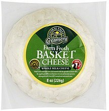 cheese whole milk, basket Central Valley Creamery Nutrition info