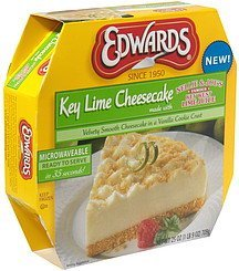 cheesecake cheese cake, key lime Edwards Nutrition info