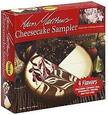 cheesecake sampler 4 flavors Adam Matthews Nutrition info