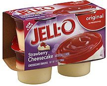 cheesecake snacks original, strawberry cheesecake Jell-o Nutrition info