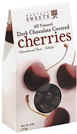 cherries dark chocolate covered Harvest Sweets Nutrition info