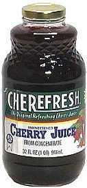 cherry juice, unsweetened Cherefresh Nutrition info
