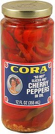 cherry peppers in oil, sliced hot Cora Nutrition info