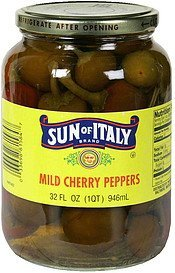 cherry peppers mild Sun of Italy Nutrition info
