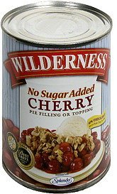 cherry pie filling or topping no sugar added. Wilderness Nutrition info
