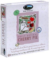 cherry pie Wholly Wholesome Nutrition info