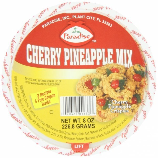 cherry pineapple mix Paradise Nutrition info